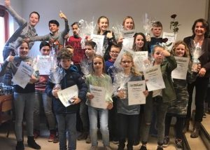 Een hele grote groep en allemaal geslaagd voor hun typediploma (2016/2017)