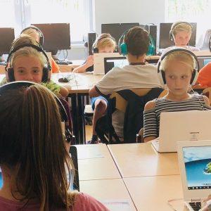 Leren typen onder schooltijd