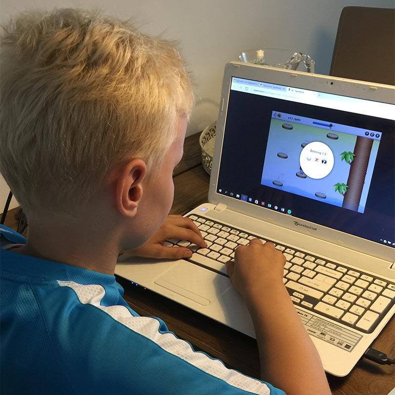 Online typecursus voor kinderen met begeleiding