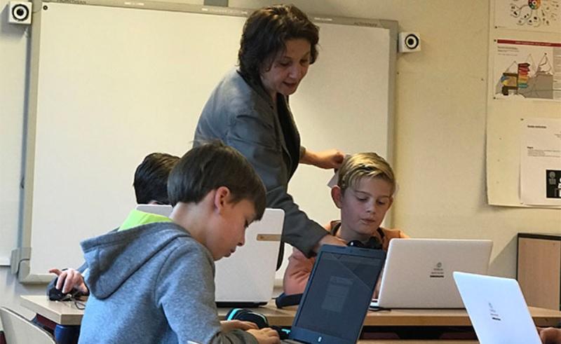 Typecursus op de basisschool na schooltijd